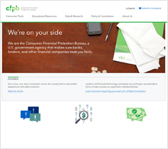 Consumer Financial Protection Bureau website