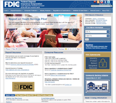 Federal Deposit Insurance Corporation website