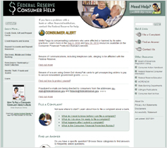 Federal Reserve Consumer Help website