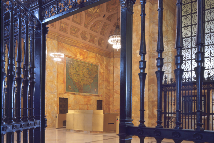 Cleveland Fed historic East 6th Street lobby