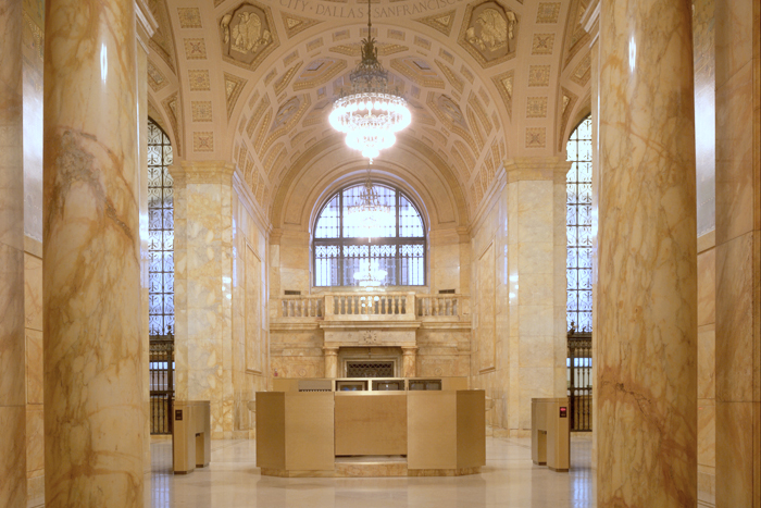 Historic East 6th Street lobby at the Cleveland Fed