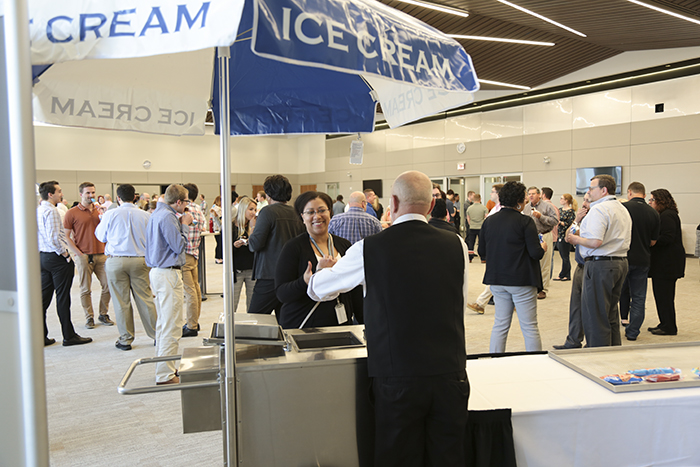 Ice cream employee appreciation event at the Cleveland Fed
