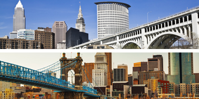 Cleveland stable; Cincinnati outperforms Ohio in several metrics