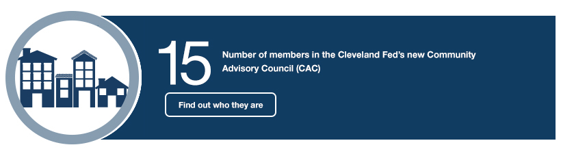 15 Number of members in the Cleveland Fed's new Community Advisory Council (CAC). Find out who they are.
