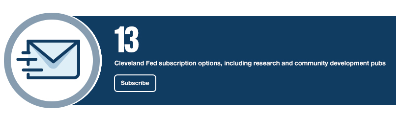13: Cleveland Fed subscription options, including research and community development pubs