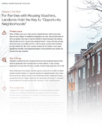 Research [in] Brief: Housing Vouchers