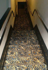 New carpet in the Leeds Theatre. Courtesy of Leeds Center for the Arts