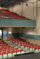 After its new paint job, the Leeds Theatre is much brighter than before. Courtesy of Leeds Center for the Arts