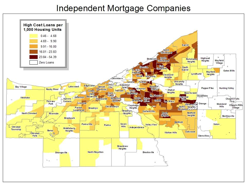 Map 3. Independent Mortgage Companies
