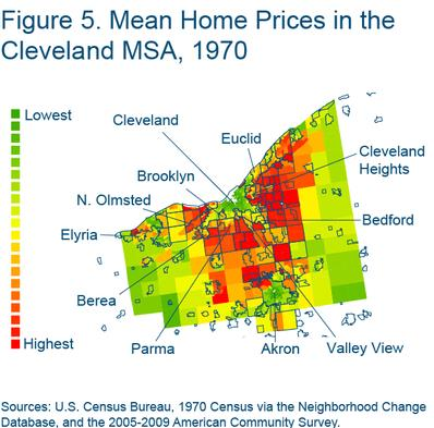Figure 5 Mean home prices in the Cleveland MSA, 1970