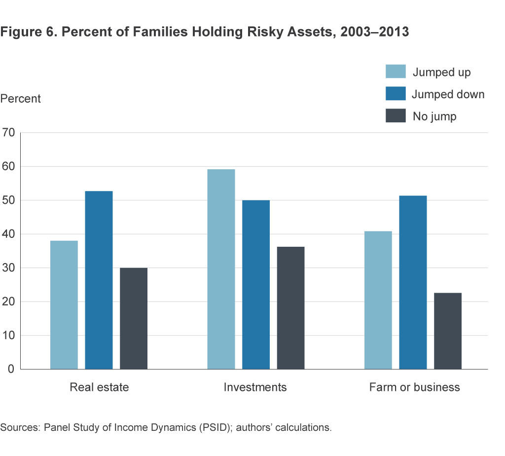 Figure 6. Percent of Families Holding Risky Assets, 2003–2013