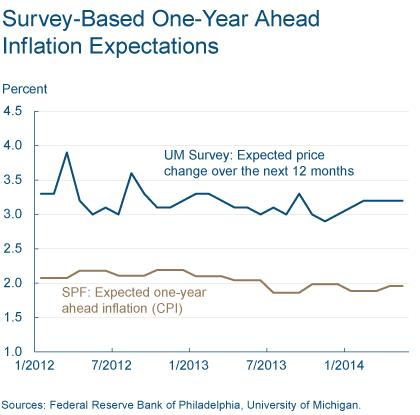 Figure 3: Survey-Based One-Year Ahead Inflation Expectations