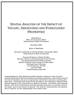 Cover: Spatial Analysis of the Impact of Vacant, Abandoned, and Foreclosed Properties