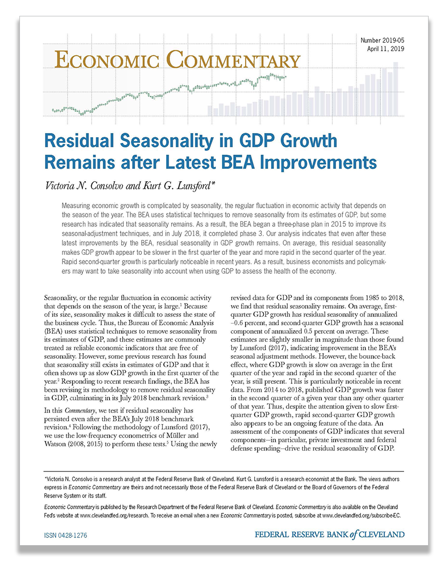 Cover of Economic Commentary