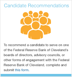 To recommend someone for our boards or advisory councils use this form.