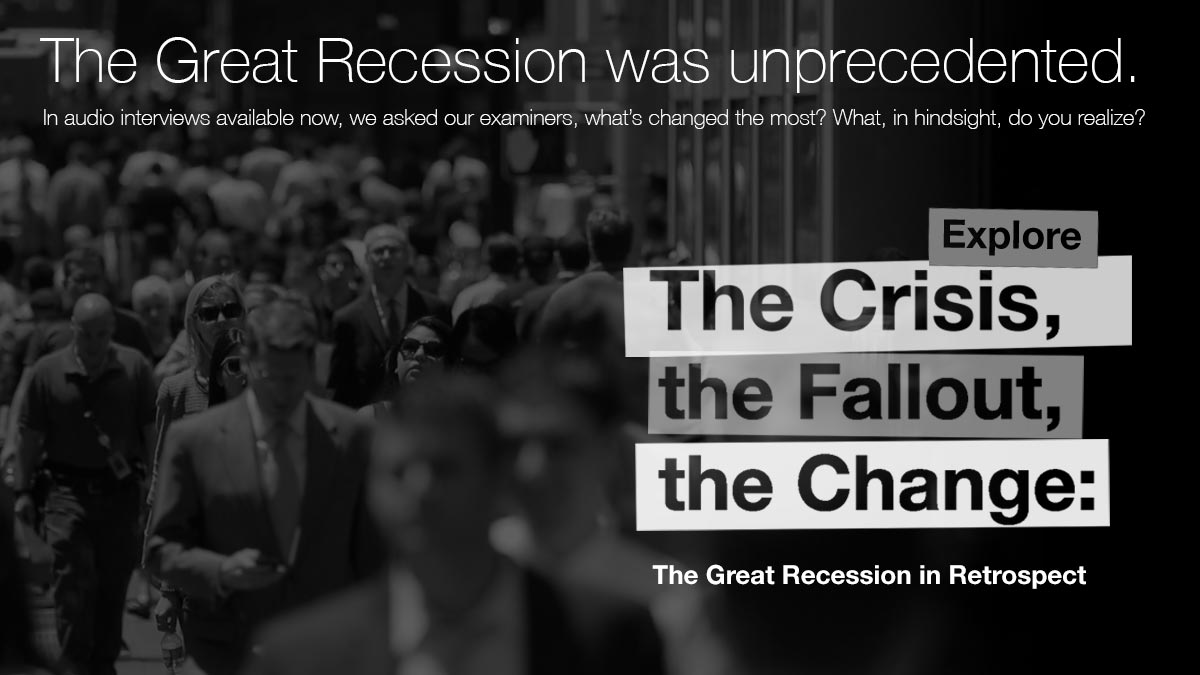 Ten years after the start of the nation's unprecedented financial crisis, Cleveland Fed examiners and others reflect on what happened and detail how things have changed in response to it.
